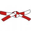 חגורה אדומה-לבנה דאן 6